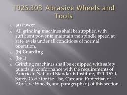 Bench Grinder Guard Requirements Osha Part 1926 Safety And Health Regulations For Construction