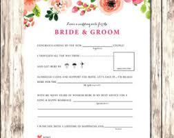 bridal mad libs wedding mad lib etsy