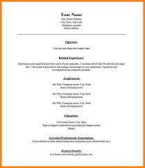 Resume Outline Pdf Blank Resume Template Pdf Free Samples Examples 6 Blank Resume