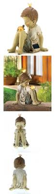 solar powered garden statues home outdoor decoration