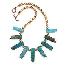 swarovski fashion necklace images Jasper and pearls stick collar necklace fashion jewelry for women jpg