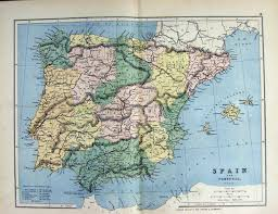 Majorca Spain Map 14 Print 1885 Map Spain Porugal Ibiza Majorca Minorca Gibraltar