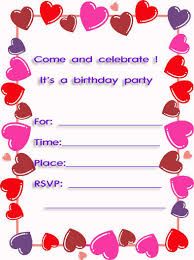 sweet hearts free printable 10th birthday party invitations http