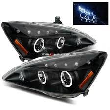 2004 honda accord headlights 03 07 honda accord halo led projector headlights black