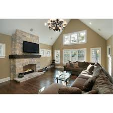 decor traditional family room with glass table and chandeliers