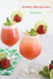 strawberry mint agua fresca party punch liz on call