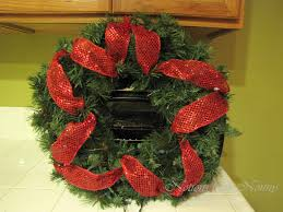 christmas mesh ribbon notions from nonny easy deco mesh christmas wreath