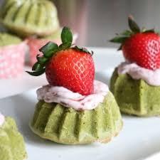 matcha strawberry mini bundt cake tastespotting