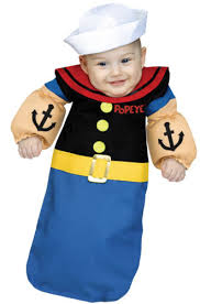 infant costume popeye the sailor bunting infant costume ebay