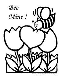valentine u0027s day cards coloring pages bee mine valentine coloring