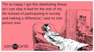 card for sick person the balance of pushing through or not chronic illness fit