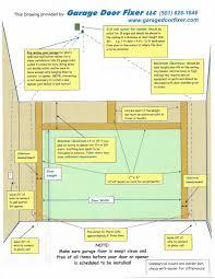 garage door header span table door torsion spring weight chart