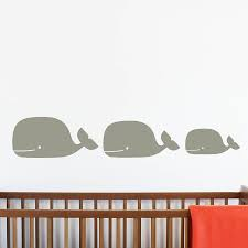 whale family wall stickers by little chip notonthehighstreet com family wall stickers grey medium