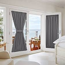Draperies For French Doors Amazon Com Rhf Blackout French Door Curtains Thermal Insulated