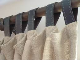 Tab Top Button Curtains Decor Ash White Tab Curtains For Living Room Decor