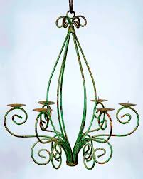 Outdoor Iron Chandelier Wrought Iron Celian Chandelier Outdoors Candles