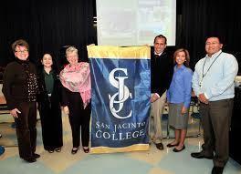 College Flag San Jacinto College Flag Presented To Jackson Intermediate