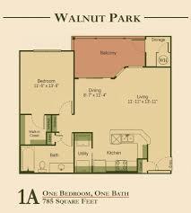 one bedroom floor plan walnut park apartments apartments in