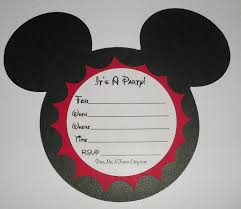Mickey Mouse Invitation Cards Printable Mickey Mouse Party Invitations Kawaiitheo Com