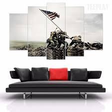 Flag Iwo Jima Raising The Flag Iwo Jima 5 Piece Canvas Painting Empire Prints