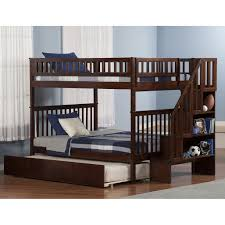 American Woodcrafters Bunk Beds Atlantic Furniture Columbia Stairway Bunk Bed