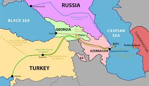 South Central Asia Map by South Caucasus Pipeline Wikipedia