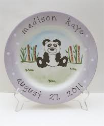 baby birth plates personalized painted animal birth plates an affair