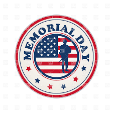 Pa Flag Memorial Day Stamp With Flag Of Usa Royalty Free Vector Clip Art