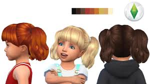 childs hairstyles sims 4 andreyloversims toddler hair 4 version3 sims 4 cc pinterest
