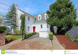 large white classic american house exterior stock image image