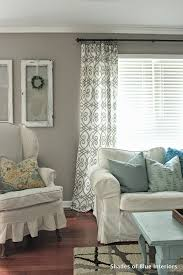 Simple Curtains For Living Room No Sew Tutorial Curtains Shades Of Blue Interiors