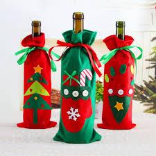 wine bottle bow new 5pcs christmas decorations santa claus wine bottle bow tie