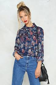 floral blouse take a bow floral blouse shop clothes at gal