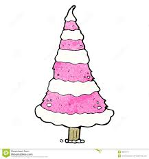 pink christmas tree cartoon royalty free stock photo image 38043775
