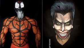 makeup artist book makeup artist transforms into real comic book characters