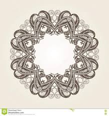 round wedding invitations decorative ornate round frame in victorian style stock vector