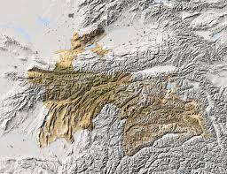 Tajikistan Map Tajikistan Shaded Relief Map Colored According To Vegetation