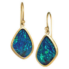 tourmaline opal luna felix green scarab tourmaline yellow gold granulated earrings
