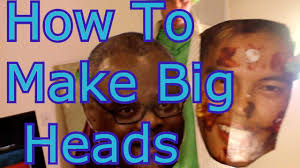 fan faces on a stick how to make a big head poverty edition youtube