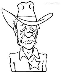 cowboy color page coloring pages for kids miscellaneous