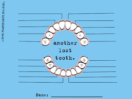 another lost tooth tooth fairy tooth chart free printable