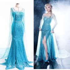 Queen Halloween Costumes Adults Lady Princess Elsa Dress Queen Costume Tulle Maxi Elsa Gown