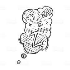 vector sketch comics bubble zzz stock vector art 530087799 istock