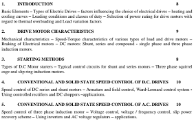 electrical drives and controls lecture notes study material pdf