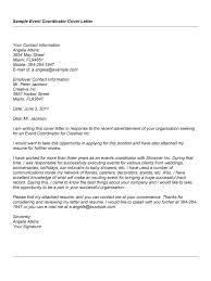 event planning cover letter resume badak