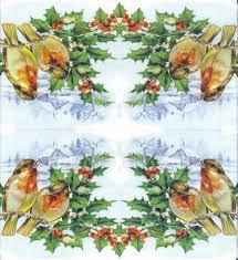 decoupage napkins of christmas bullfinches mistletoe u2013 chiarotino