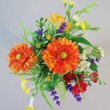 artificial cottage garden flowers bundle orange artificial flowers