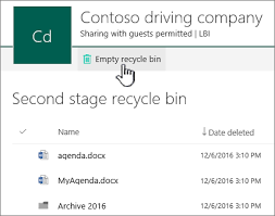 delete collection recycle bin sharepoint