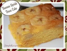 banana upside down cake u2013 simple recipes