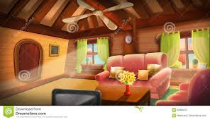 inside of tree house warm cabin stock illustration image 83983572